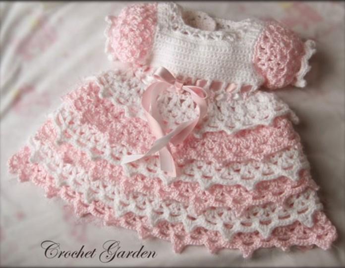 Платье для новорожденной девочки на 1 год