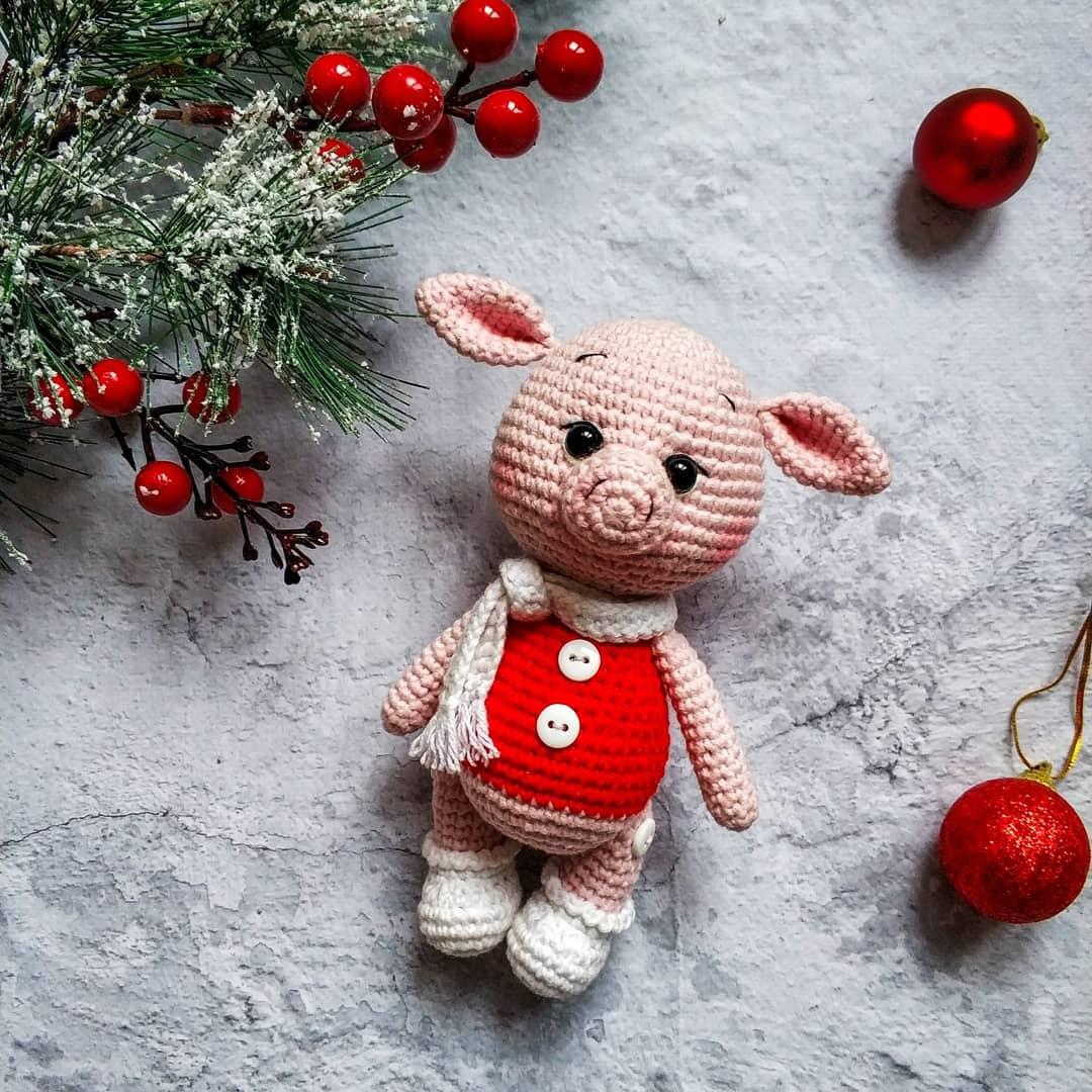 свинка амигуруми 2019