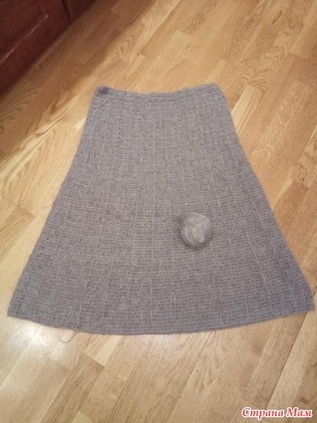 юбка плиссе крючком из шерсти